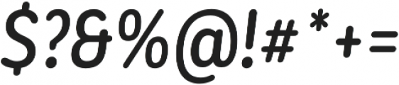 CorpSansRd Alt Medium CndIt otf (500) Font OTHER CHARS