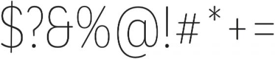 CorpSansRd Alt Thin Cnd otf (100) Font OTHER CHARS
