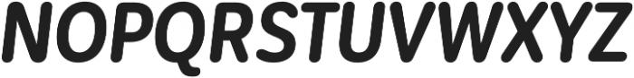 CorpSansRd Bold CndIt otf (700) Font UPPERCASE