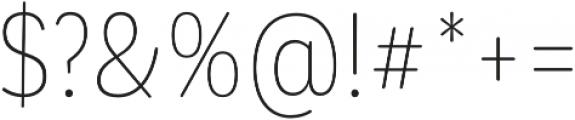 CorpSansRd Thin Cnd otf (100) Font OTHER CHARS