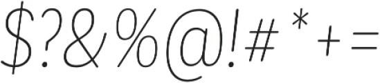 CorpSansRd Thin CndIt otf (100) Font OTHER CHARS