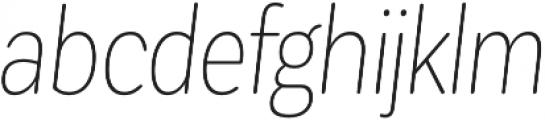 CorpSansRd Thin CndIt otf (100) Font LOWERCASE