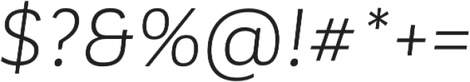 Corporative Alt Book Italic otf (400) Font OTHER CHARS