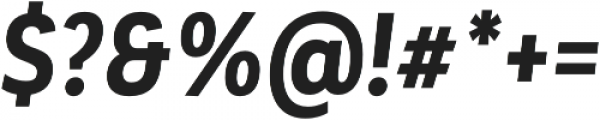 Corporative Alt Cnd Bold Italic otf (700) Font OTHER CHARS