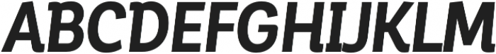 Corporative Alt Cnd Bold Italic otf (700) Font UPPERCASE