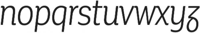 Corporative Alt Cnd Book Italic otf (400) Font LOWERCASE