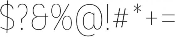 Corporative Alt Cnd Hair otf (400) Font OTHER CHARS