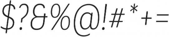 Corporative Alt Cnd Light Italic otf (300) Font OTHER CHARS