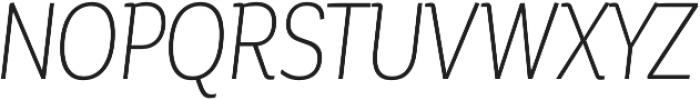 Corporative Alt Cnd Light Italic otf (300) Font UPPERCASE