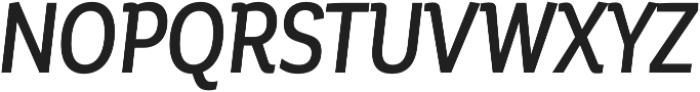 Corporative Alt Cnd Medium Italic otf (500) Font UPPERCASE