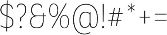 Corporative Alt Cnd Thin otf (100) Font OTHER CHARS