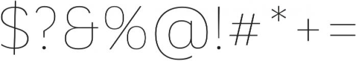 Corporative Alt Hair otf (400) Font OTHER CHARS