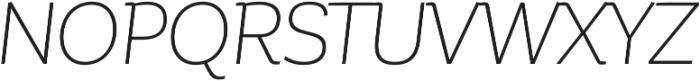 Corporative Alt Light Italic otf (300) Font UPPERCASE