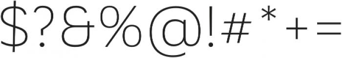 Corporative Alt Light otf (300) Font OTHER CHARS