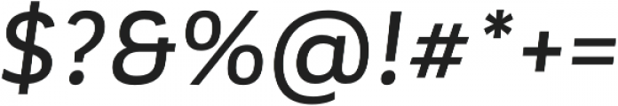 Corporative Alt Medium Italic otf (500) Font OTHER CHARS