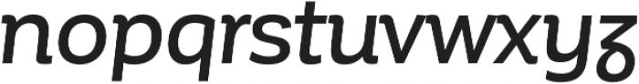 Corporative Alt Medium Italic otf (500) Font LOWERCASE