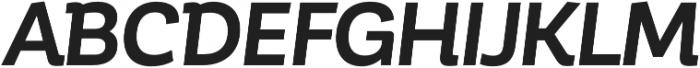 Corporative Bold Italic otf (700) Font UPPERCASE