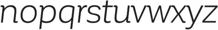 Corporative Book Italic otf (400) Font LOWERCASE