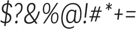 Corporative Cnd Book Italic otf (400) Font OTHER CHARS