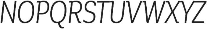 Corporative Cnd Book Italic otf (400) Font UPPERCASE