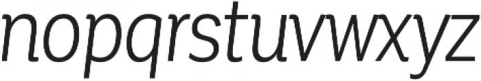 Corporative Cnd Book Italic otf (400) Font LOWERCASE