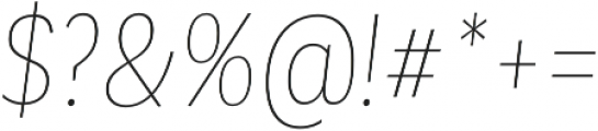Corporative Cnd Hair Italic otf (400) Font OTHER CHARS
