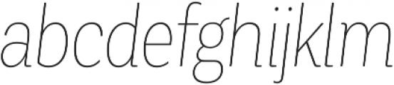 Corporative Cnd Hair Italic otf (400) Font LOWERCASE