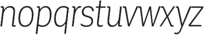 Corporative Cnd Light Italic otf (300) Font LOWERCASE