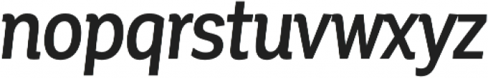 Corporative Cnd Medium Italic otf (500) Font LOWERCASE