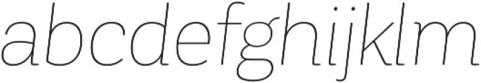 Corporative Hair Italic otf (400) Font LOWERCASE