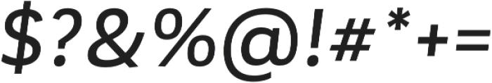 Corporative Medium Italic otf (500) Font OTHER CHARS