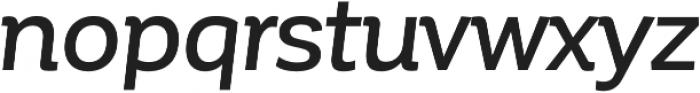 Corporative Medium Italic otf (500) Font LOWERCASE