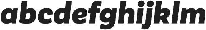 Corporative Sans Alt Black Italic otf (900) Font LOWERCASE