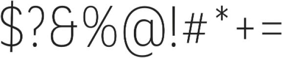 Corporative Sans Alt Cnd Light otf (300) Font OTHER CHARS