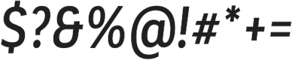 Corporative Sans Alt Cnd Medium Italic otf (500) Font OTHER CHARS