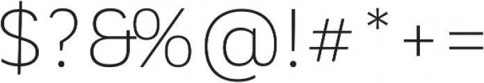 Corporative Sans Alt Light otf (300) Font OTHER CHARS