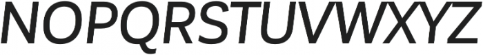 Corporative Sans Alt Medium Italic otf (500) Font UPPERCASE