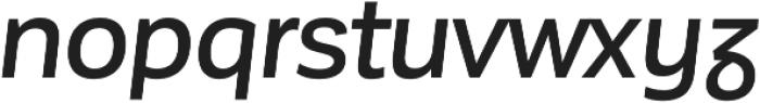 Corporative Sans Alt Medium Italic otf (500) Font LOWERCASE