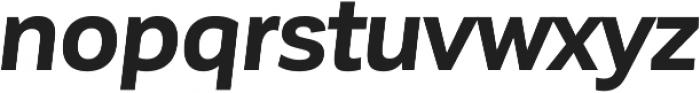 Corporative Sans Bold Italic otf (700) Font LOWERCASE