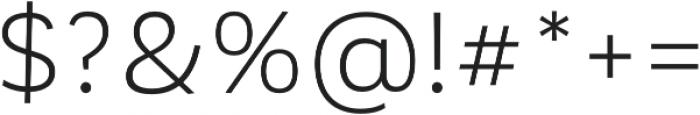 Corporative Sans Book otf (400) Font OTHER CHARS