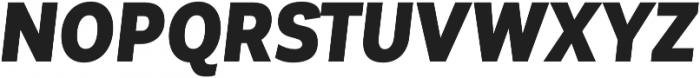 Corporative Sans Cnd Black Italic otf (900) Font UPPERCASE