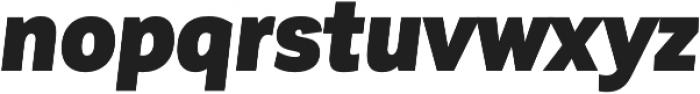 Corporative Sans Cnd Black Italic otf (900) Font LOWERCASE