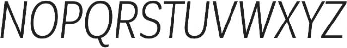 Corporative Sans Cnd Book Italic otf (400) Font UPPERCASE