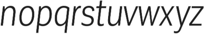 Corporative Sans Cnd Book Italic otf (400) Font LOWERCASE