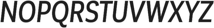 Corporative Sans Cnd Medium Italic otf (500) Font UPPERCASE
