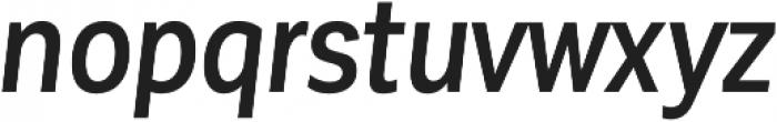 Corporative Sans Cnd Medium Italic otf (500) Font LOWERCASE