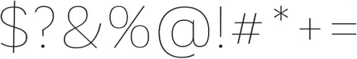 Corporative Sans Hair otf (400) Font OTHER CHARS