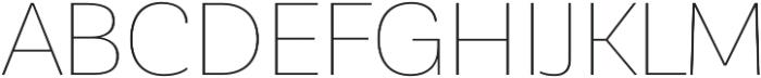 Corporative Sans Hair otf (400) Font UPPERCASE