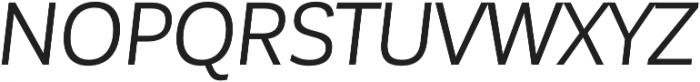 Corporative Sans Regular Italic otf (400) Font UPPERCASE