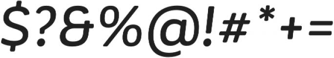Corporative Soft Alt Medium It otf (500) Font OTHER CHARS